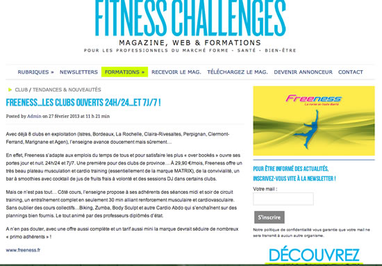 fitness challange